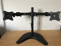 VonHaus Double Arm Monitor Desk Stand with Tilt and Swivel