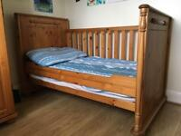 Cot bed, wardrobe, drawers/changing unit (Baby Bedroom Furniture)