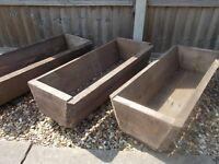 wooden troughs