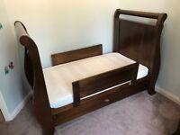 Nursery cot bed, wardrobe and changing table by Boori