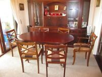 Extending Dining Table and Eight Chairs. All offers over £80 considered