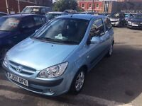 Hyundai Getz not corsa low mileage cheap insurance