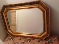 """Vintage bevelled gilt mirror in perfect condition! 30"""" wide 22"""" depth."""