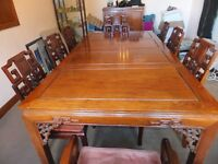 Stunning solid Rosewood extending table & 10 chairs, originally £10,000