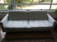 ILVA Designer Sofa bed pale blue/green