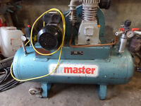 Air Master Tools Air Compressor 100L Belt Drive 5.5HP Cast Cylinder