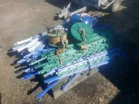 Electric fence posts wire and energiser farm stables livestock tractor