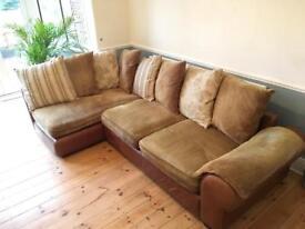 Barker & Stonehouse corner sofa & footstool