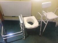 Toilet support surround and chair