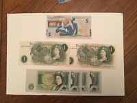 JOB LOT - Very old coins & very old banknotes - also includes a Jack Nicklaus £5 note