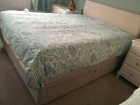King size bed base with 4 drawers