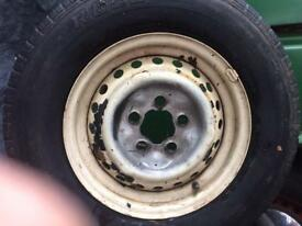 4 steel wheels to suit Volkswagen Late bay t25 t3 beetle carbon gear etc