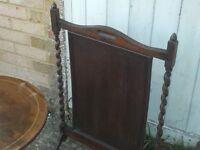 job lot of 3 pieces of vintage furniturem lamp table, firescreen & a nest