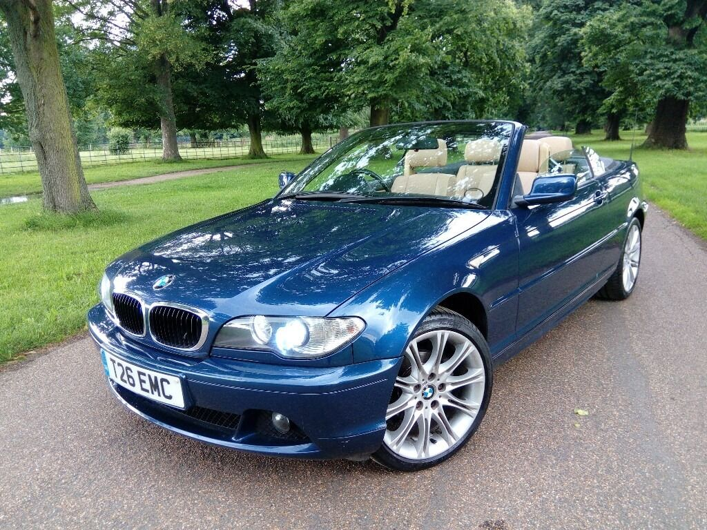 bmw 318ci convertible sports topaz blue m sport alloys cream leather interior very clean. Black Bedroom Furniture Sets. Home Design Ideas