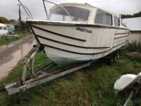 TRIPLE AXLE BOAT TRAILER WITH FREE CANAL BOAT INCUDED
