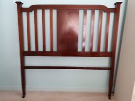 4ft 6inch antique mahogany double bed.