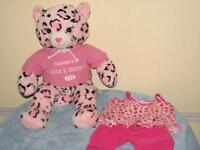 Build-A-Bear Retired PAWFECT PINK LEOPARD Cat