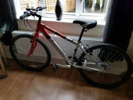 Red Raleigh bicycle