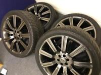 "22"" ALLOY WHEELS WITH 4 DECENT TYRES!!!"