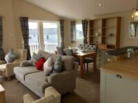LODGE FOR SALE WITH SUPERB VIEWS OVER THE NORTHUMBERLAND COAST. 5* PARK WITH 5* F