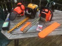 For sale chainsaw with hedgcutter plus more etc