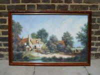 FREE DELIVERY Traditional Farmyard Scene Retro Vintage Print