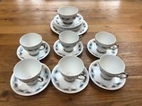 Vintage Windsor 20 Piece Bone China Tea Cup Set
