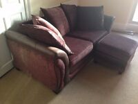 Fabric Sofa with Footstool **QUICK SALE**