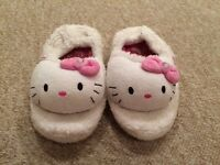 Hello kitty slippers infant size 10-11
