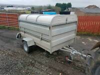7x4 livestock trailer has removable roof for high sides tractor farm
