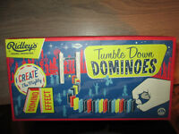 Tumble Down Dominoes - set of 200 traditional wooden dominoes to create a domino run. New and sealed