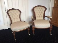Two Antique Chairs Ladies and Gents