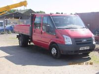 2011/60 FORD TRANSIT 140 T350 DOUBLE CAB TIPPER R.W.D LOW MILES, 1 OWNER