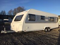 Knaus Sport 700 6 berth twin axle caravan with fixed bed and bunk beds