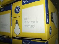 5 HANDLAMP / WORKLAMP / TEMPORARY LIGHTING 110V 60W ROUGH SERVICE LIGHT BULBS E27/ES PRICE REDUCED