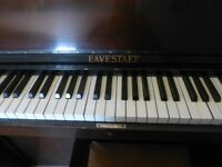 Eavestaff Mini Piano - Art Deco! with Matching Piano Stool