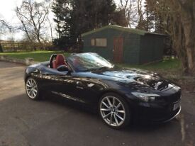 BMW Z4 23I SDrive - Black, red leather interior, low miles, 2.5i straight 6 hard top convertible