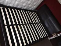 Next Leather King Size bed base