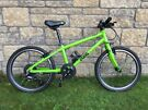 """Frog 55 Kids Bike Green - 20"""" Wheels+Stand+New Tyres+Mud Guards - Excellent"""