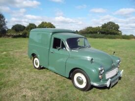 CLASSIC MORRIS MINOR VAN TO HIRE (WITH DRIVER) IN IPSWICH AND SURROUNDING AREAS