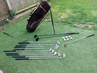Set of Golf Clubs & Stand Bag.. Mens.. R/H