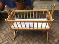 Rocking Crib with New Mattress