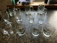 Selection of assorted glasses