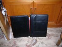 Document meeting holders, x2, faux leather, both in black