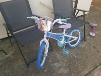 """Girls frozen bike 16"""" used 3 times"""