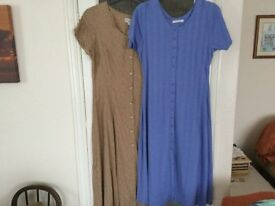 Two size 16 dresses longer length as new Hardly worn