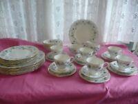 Vintage Colclough 39 Piece dinner/Tea Set Linden Pattern