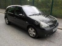 2005 RENAULT CLIO 1.2 IN BLACK, ONE OWNER FROM NEW, SERVICE HISTORY HPI CLEAR, NO ACCIDENTS IN PAST