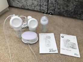 Closer to nature Avent electric and manual breast pump. Perfect condition. Basically new.