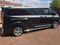 🏁2014 14 reg ford tourneo custom 2.2 diesel 300 ltd 9 seatr 6 speed m sport look a like £16595🏁